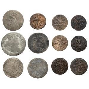 August III Sas, Zestaw głównie monet miejskich (12szt)