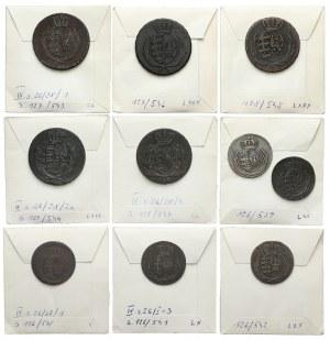 Księstwo Warszawskie, od 1 do 3 groszy 1810-1814 - zestaw (10szt)