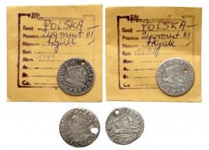 Trojaki z dziurami Zygmunta III - zestaw (4szt)