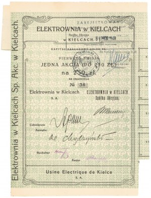 Elektrownia w Kielcach, Em.1, 1x 250 zł