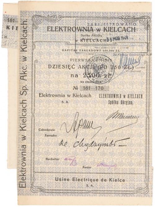 Elektrownia w Kielcach, Em.1, 10x 250 zł