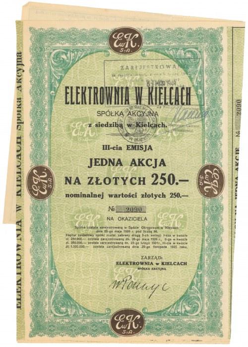 Elektrownia w Kielcach, Em.3, 1x 250 zł