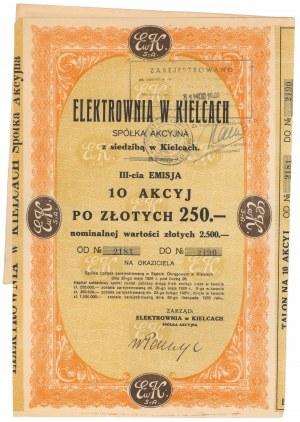 Elektrownia w Kielcach, Em.3, 10x 250 zł