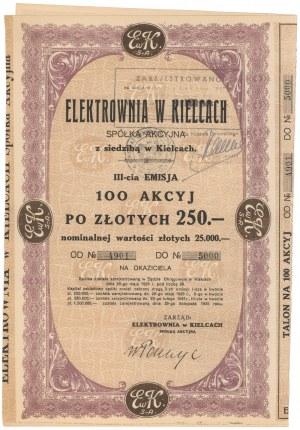 Elektrownia w Kielcach, Em.3, 100x 250 zł