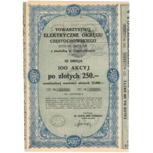 Tow. Elektryczne Okręgu Częstochowskiego, Em.3, 100x 250 zł