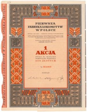 Pierwsza Fabryka Lokomotyw w Polsce, 100 zł 1938