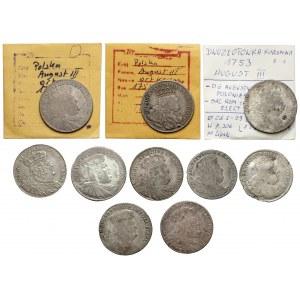 Orty i dwuzłotówki Augusta III Sasa - zestaw (10szt)