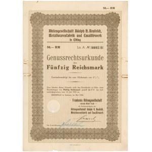 Elbląg, AG Adolph H. Neufeldt, Metallwarenfabrik, 50 rmk 1926