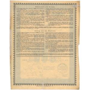 Tow. Akcyjne Manufaktury Bawełnianej LORENTZ i KRUSCHE, 500 rubli 1899, kapitał 600 tys.