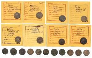 Szelągi koronne Augusta III Sasa - zestaw (19szt)