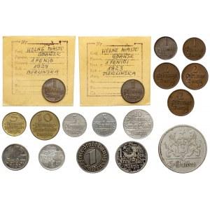 Wolne Miasto Gdańsk, kolekcja monet (17szt)