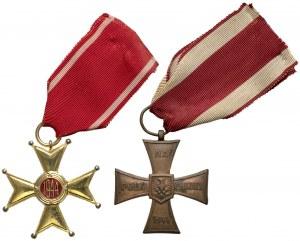 Order Odrodzenia Polski i Krzyż Walecznych - zestaw (2szt)