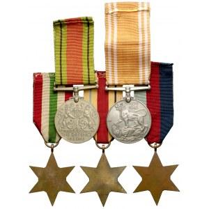 Wielka Brytania, zestaw odznaczeń za II Wojnę Światową (5szt)