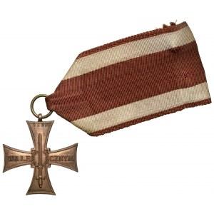Krzyż Walecznych 1920 - mały Knedler - z numerem