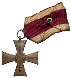Krzyż Walecznych 1920 - z numerem