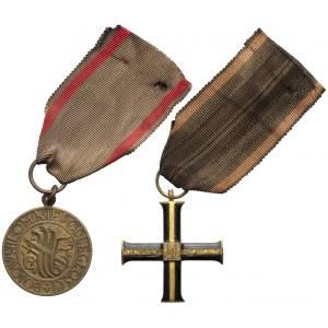 Krzyż i Medal Bojownikom Niepodległości (2szt)
