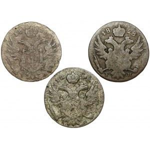 5 groszy polskich 1818, 1826 i 1828 (3szt)