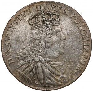 August III Sas, Tymf Lipsk 1753 - owalny, cieniowany