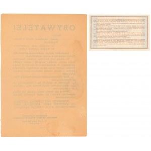 Bon Obrony Przeciwlotniczej 1939 - z oryginalnym afiszem