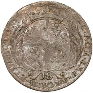 August III Sas, Ort Lipsk 1754 EC - szerokie w zbroi