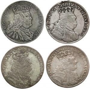 Orty Augsta III Sasa - rzadkie popiersia (4szt)
