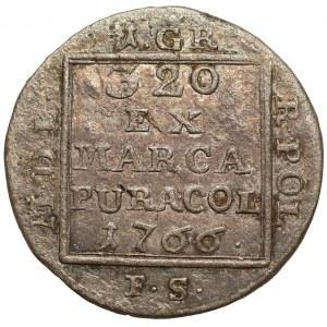 Poniatowski, Grosz srebrny 1766 F.S.