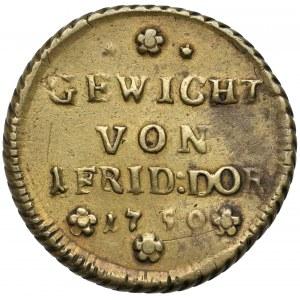 Preussen, Gewicht von 1 Friedrich d'or 1750