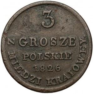 3 grosze 1826 IB z MIEDZI KRAIOWEY