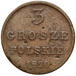 3 grosze polskie 1820 IB - rzadkie