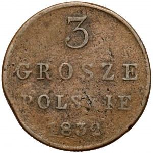 3 grosze polskie 1832 KG - rzadkie