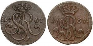 Poniatowski, Grosze 1767 - G i g (2szt)