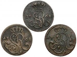 Poniatowski, Grosze 1768 - g i G (3szt)