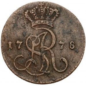 Poniatowski, Grosz 1778 E.B.