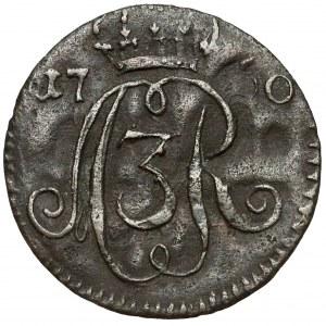 August III Sas, Szeląg Toruń 1760 - data przy monogramie