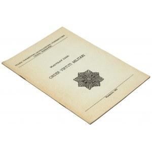Order Virtuti Militari, Kabaj