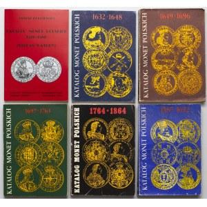 Katalog Monet Polskich - komplet za okres 1576-1684 (6szt)