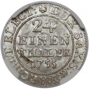 August III Sas, 1/24 talara 1755 FWóF, Drezno - menniczy