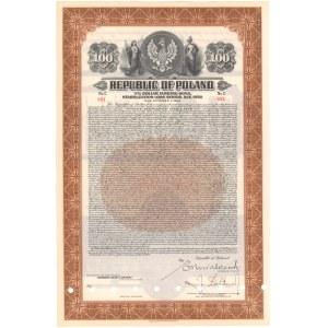 3% Founding Bon Pożyczki Stabilizacyjnej 100 dolarów 1937