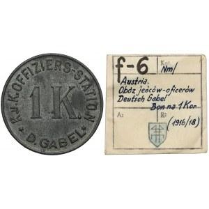 Obóz w Deutsch Gabel (Austria), 1 korona (1916-1918) - ex. Kałkowski