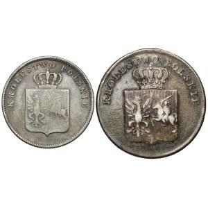 Powstanie Listopadowe, 5 i 2 złote 1831 KG - zestaw (2szt)