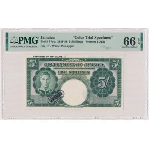 Jamaica, 5 Shillings (1939-58) - SPECIMEN