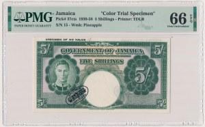Jamajka, 5 Shillings (1939-58) - SPECIMEN