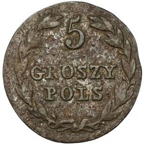 5 groszy polskich 1825 IB