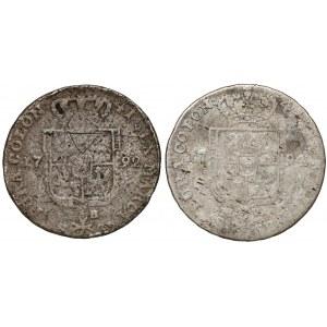 Poniatowski, Dwuzłotówka 1792 i 1794 - zestaw (2szt)