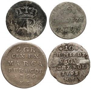Poniatowski - zestaw ciekawszych monet (4szt)