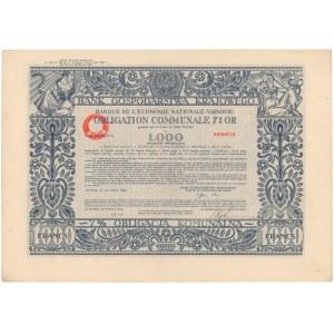 BGK Obligacja 7% Komunalna 1.000 franków 1930