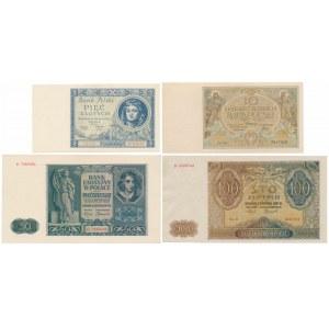 Zestaw polskich banknotów z lat 1929-1941 (4szt)