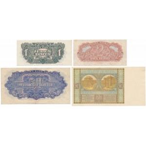Zestaw banknotów polskich z lat 1929-1944 (4szt)