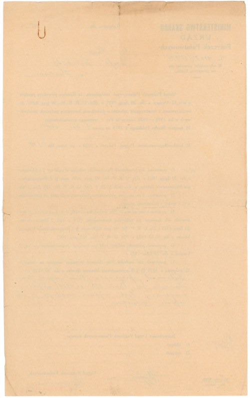 Urząd Pożyczek Państwowych - dokument z 1929 r.