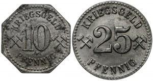 Neurode (Nowa Ruda), 10 i 25 fenigów 1918 (2szt)